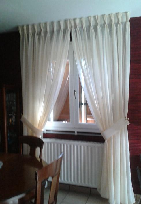 Confection sur mesure de rideaux doubles rideaux et - Pose de rideaux ...